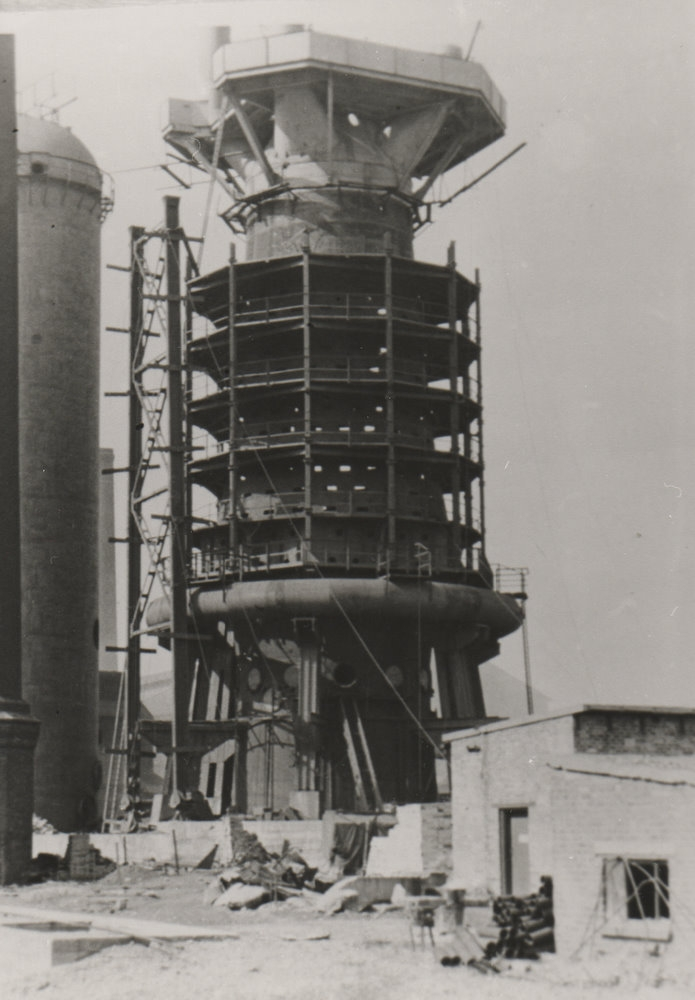 Blast Furnace Construction : Iron steel works « east cleveland image archive