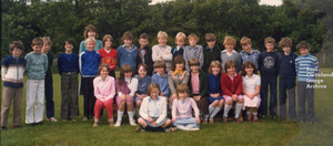 Mrs Blades and her class (fourth years) - 1981