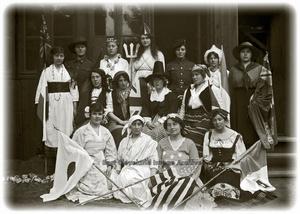 Group of ladies in costumes