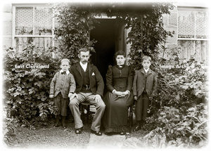 Family of 4 Outside House