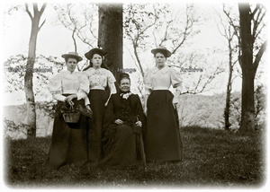 Group of four ladies in the trees