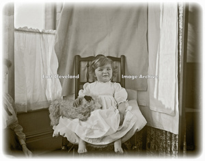 Young girl in a chair