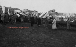 Tractors displayed at Stokesley Show