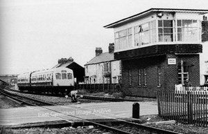 Class 101 DMU approaches Redcar (early 1980s)