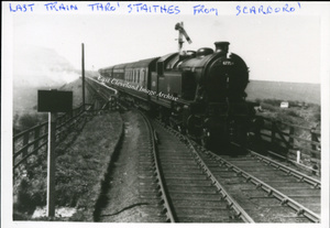 Last Train Thro Staithes from Scarbro