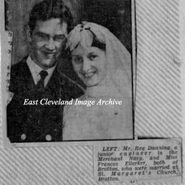 Reg Dunning and Frances Ellerker got married