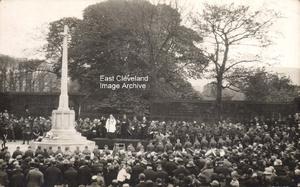 Unveiling the Memorial at Guisborough