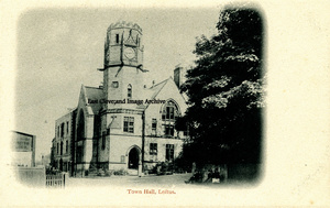 Loftus Town Hall Old Postcard 001
