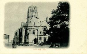 Loftus Town Hall Old Postcard 001